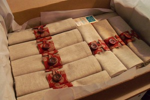 linen napkins and placemats ready to ship