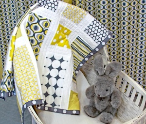 sew for home citron gray nursery